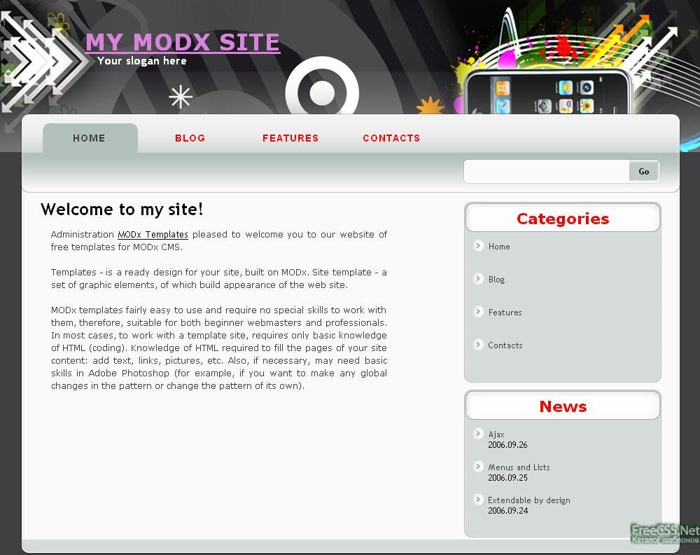 шаблоны сайтов modx: