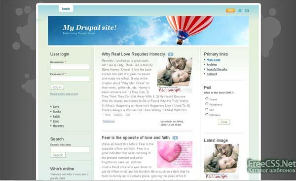 """Summertime """" Drupal CMS 6.* """" Шаблоны Drupal """" Шаблоны для сайта """" FreeCSS.Net: Шаблоны для сайта"""