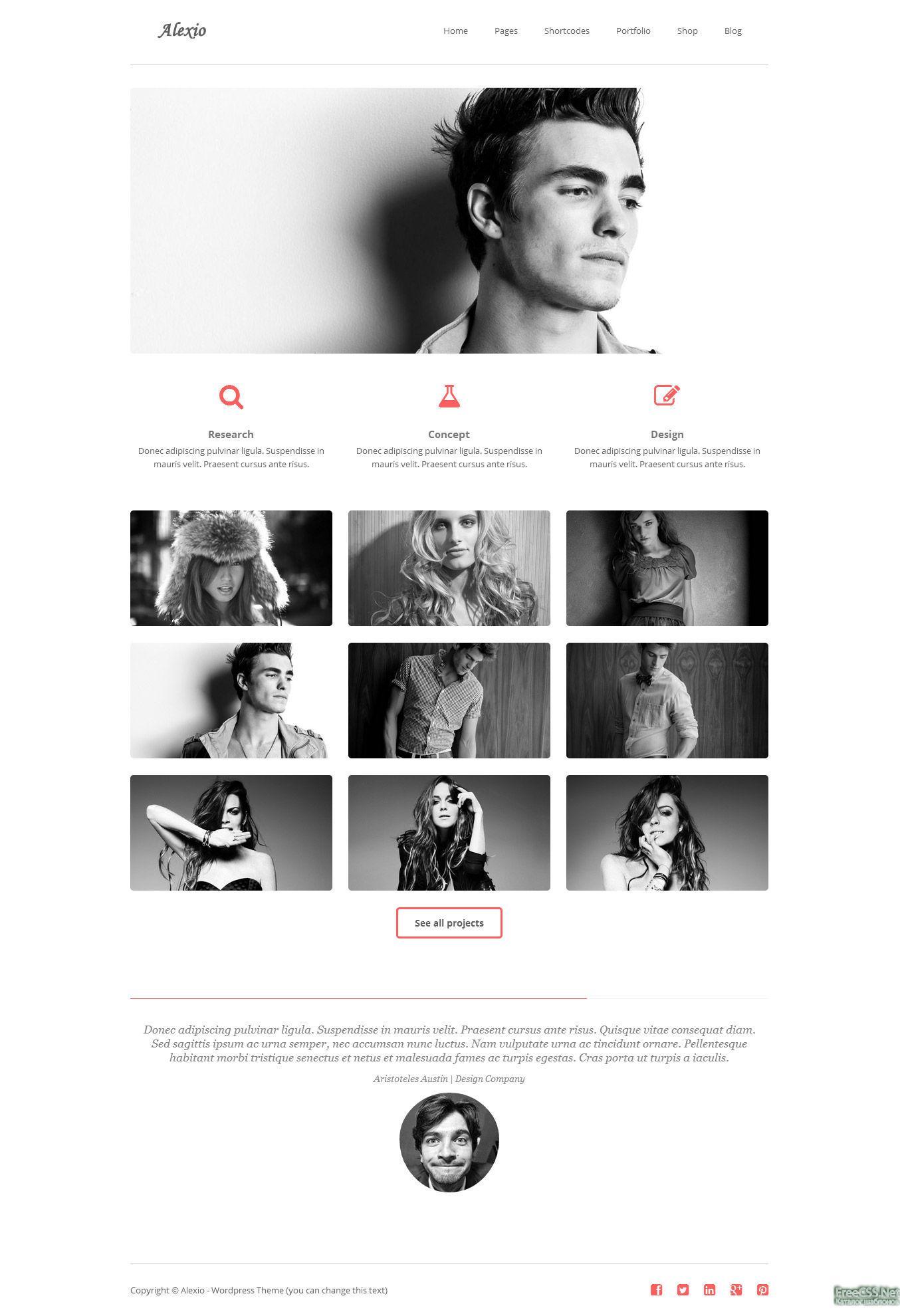 33 clean amp minimalist tumblr themes xdesigns - HD1354×1980