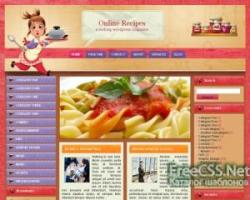 WordPress тема кулинария Online-recipes
